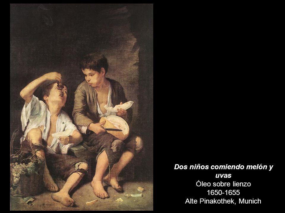 Dos niños comiendo melón y uvas Óleo sobre lienzo 1650-1655 Alte Pinakothek, Munich