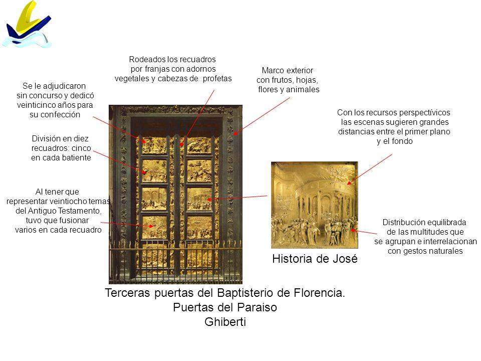 Terceras puertas del Baptisterio de Florencia. Puertas del Paraiso