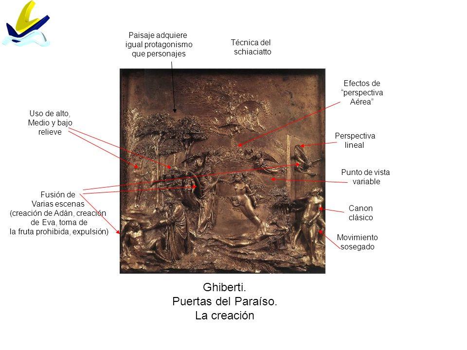 Ghiberti. Puertas del Paraíso. La creación Paisaje adquiere