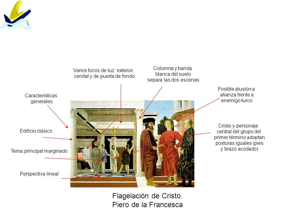 Flagelación de Cristo. Piero de la Francesca Columna y banda