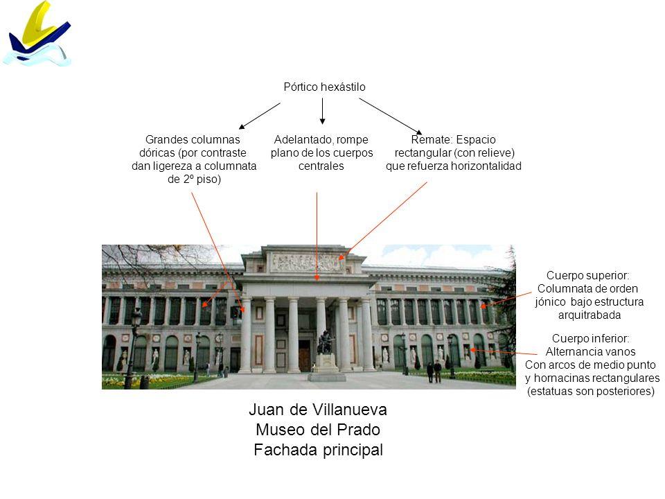 Juan de Villanueva Museo del Prado Fachada principal Pórtico hexástilo