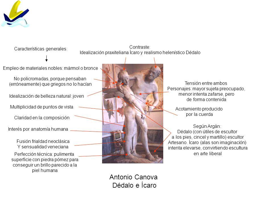 Antonio Canova Dédalo e Ícaro Características generales: Contraste: