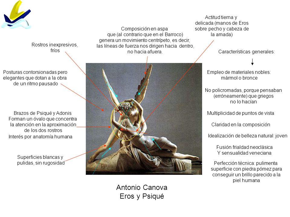 Antonio Canova Eros y Psiqué Actitud tierna y delicada (manos de Eros