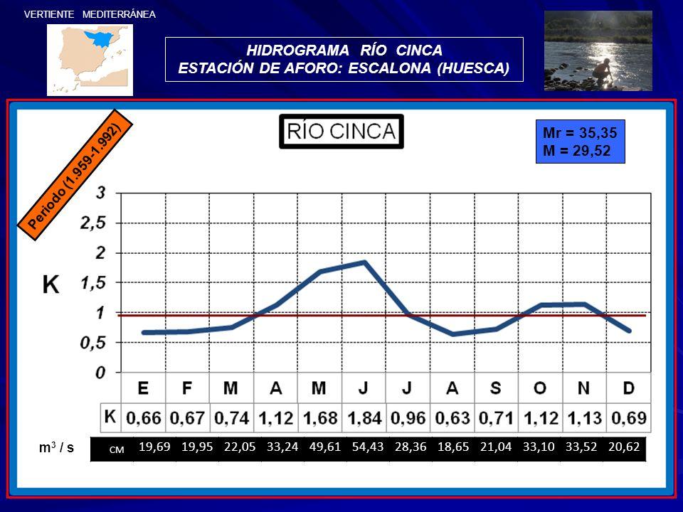 ESTACIÓN DE AFORO: ESCALONA (HUESCA)