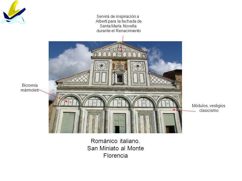 Románico italiano. San Miniato al Monte Florencia