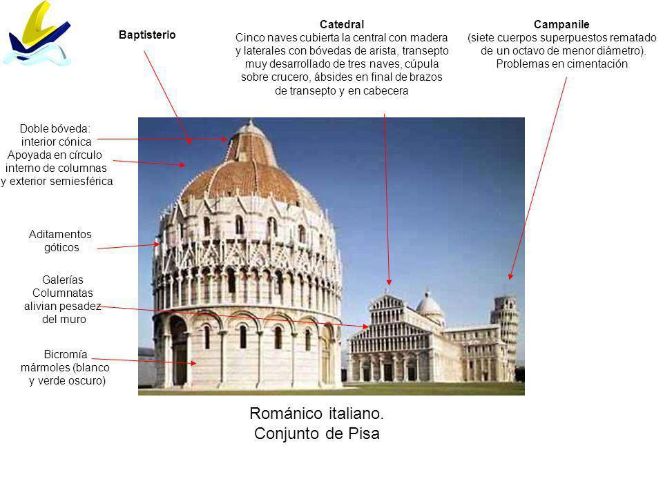Románico italiano. Conjunto de Pisa Catedral
