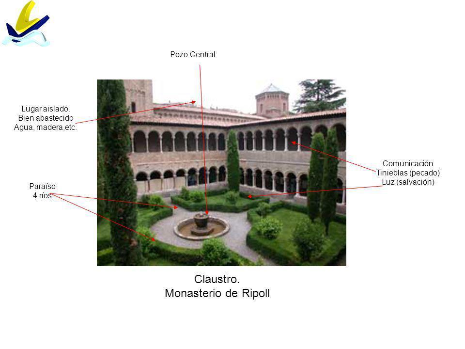 Claustro. Monasterio de Ripoll Pozo Central Lugar aislado.