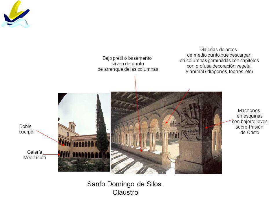 Santo Domingo de Silos. Claustro Galerías de arcos