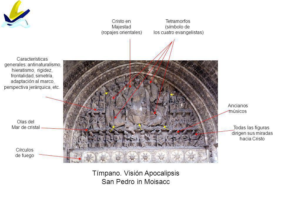 Tímpano. Visión Apocalipsis San Pedro in Moisacc