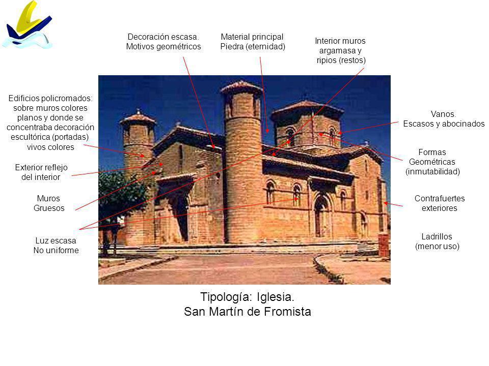 Tipología: Iglesia. San Martín de Fromista Decoración escasa.