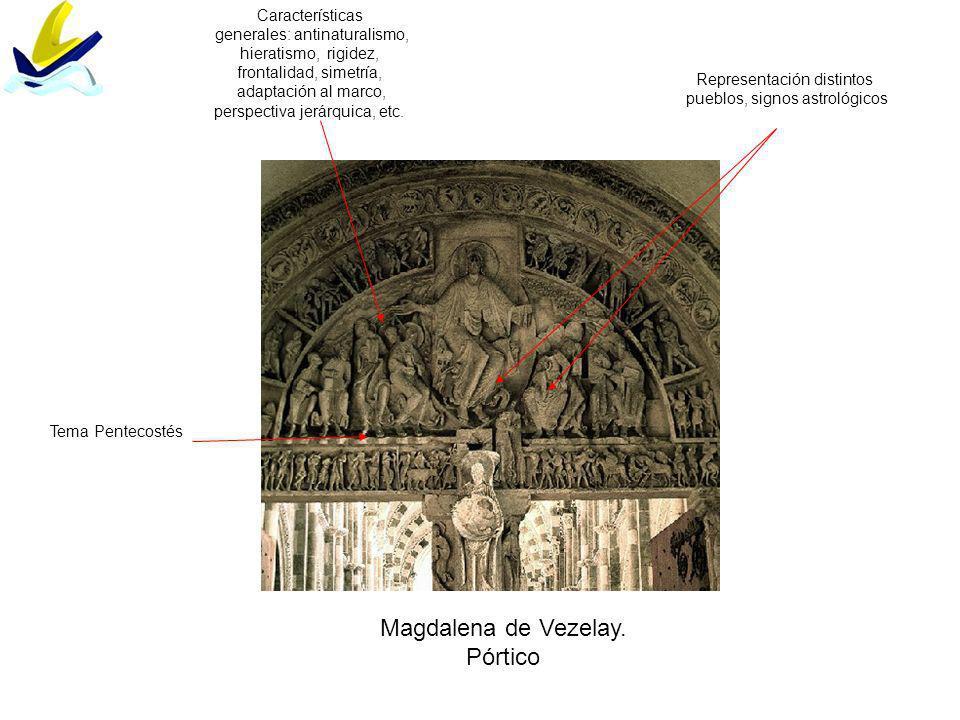 Magdalena de Vezelay. Pórtico Características