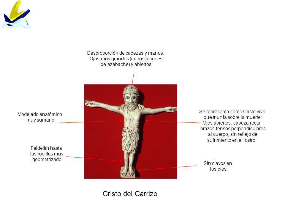 Cristo del Carrizo Desproporción de cabezas y manos.