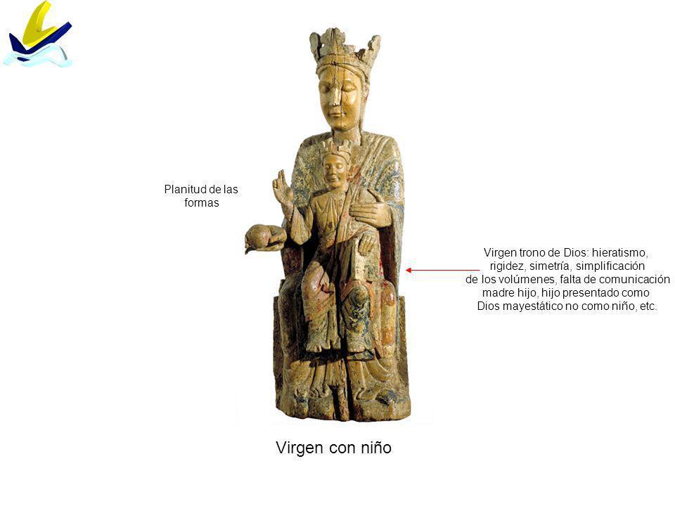 Virgen con niño Planitud de las formas