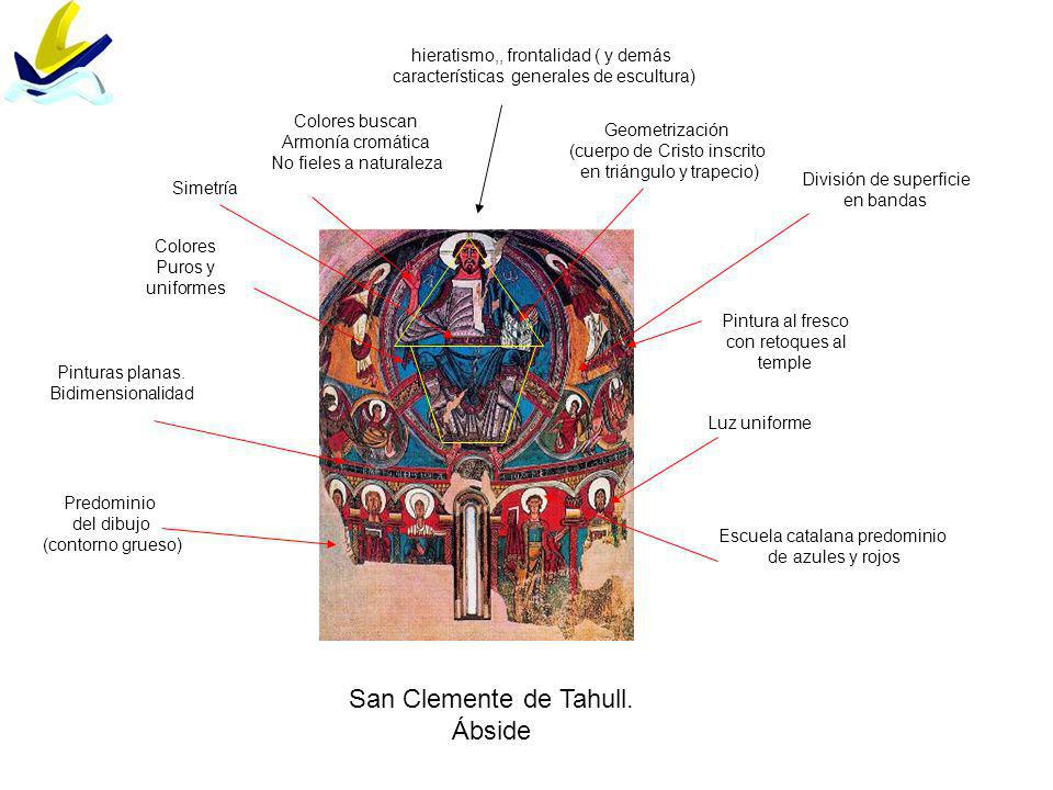 San Clemente de Tahull. Ábside hieratismo,, frontalidad ( y demás