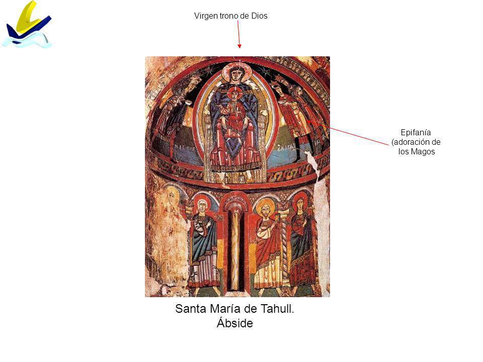 Santa María de Tahull. Ábside Virgen trono de Dios Epifanía