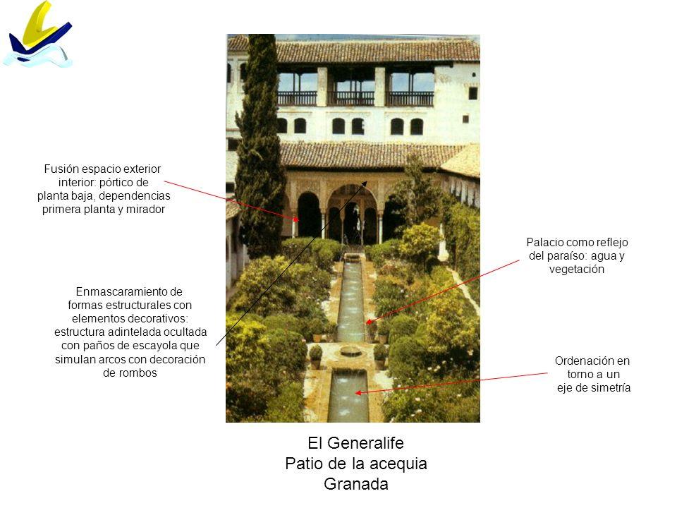 El Generalife Patio de la acequia Granada Fusión espacio exterior