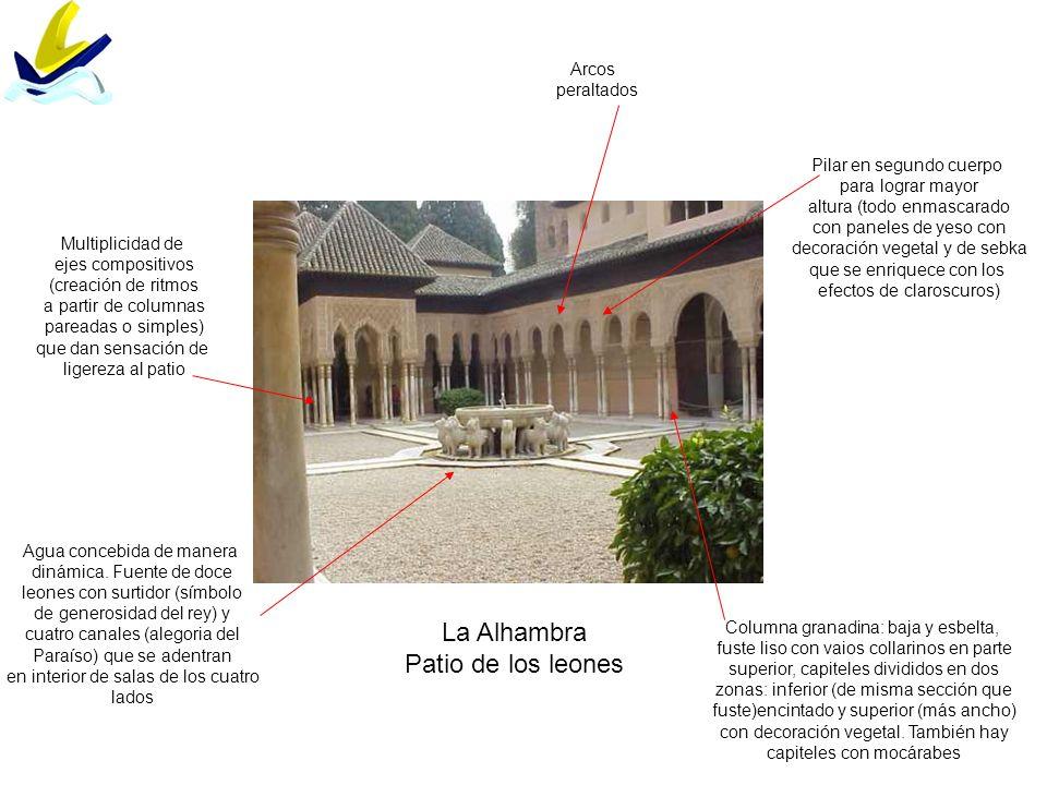 La Alhambra Patio de los leones Arcos peraltados