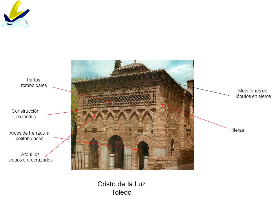 Cristo de la Luz Toledo Paños romboidales Modillones de
