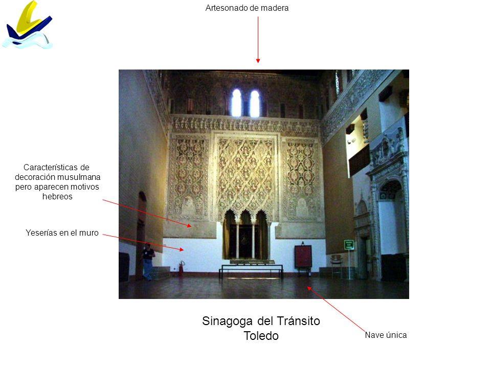 Sinagoga del Tránsito Toledo Artesonado de madera Características de