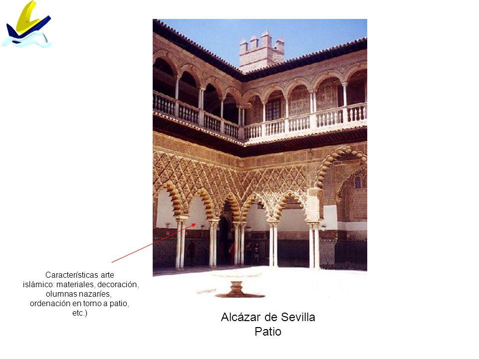 Alcázar de Sevilla Patio Características arte