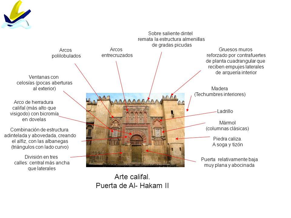 Arte califal. Puerta de Al- Hakam II Sobre saliente dintel