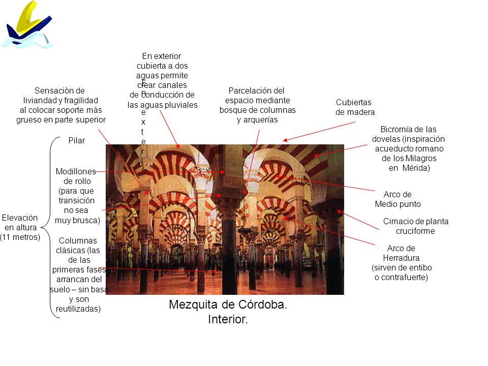 Mezquita de Córdoba. Interior. En exterior cubierta a dos