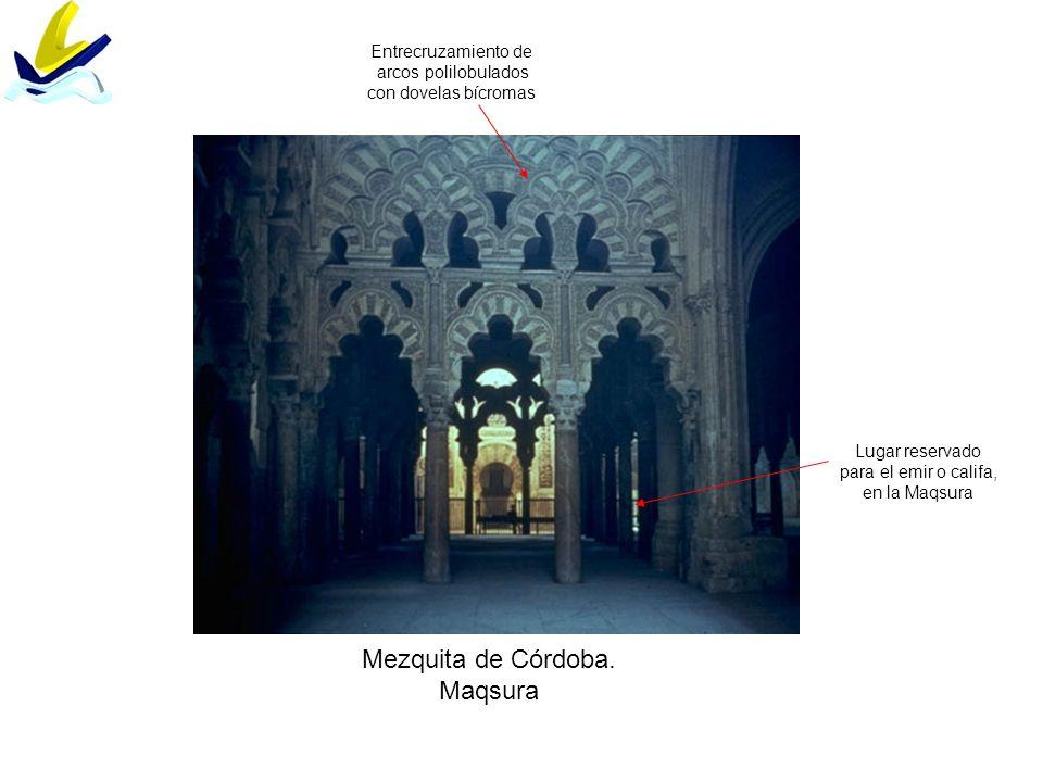 Mezquita de Córdoba. Maqsura Entrecruzamiento de arcos polilobulados