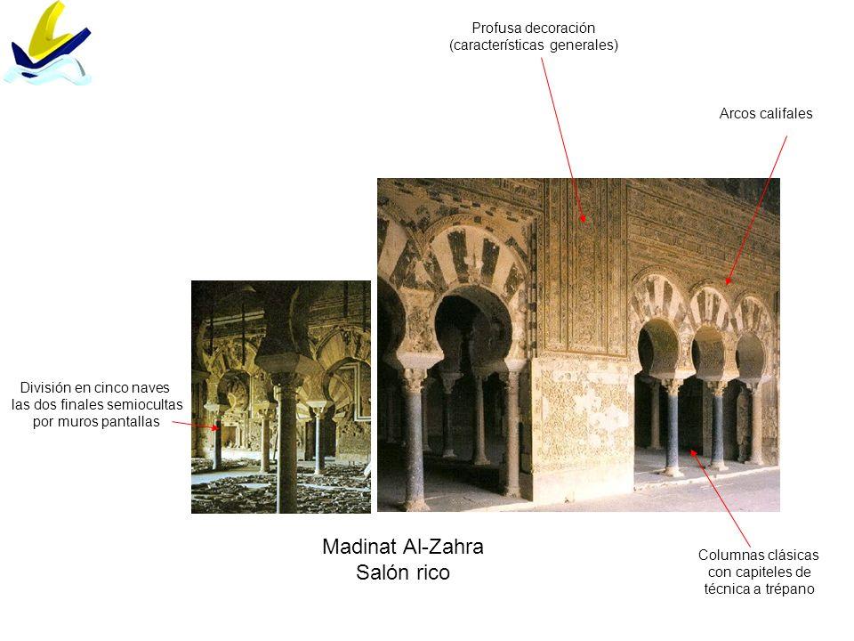 Madinat Al-Zahra Salón rico Profusa decoración