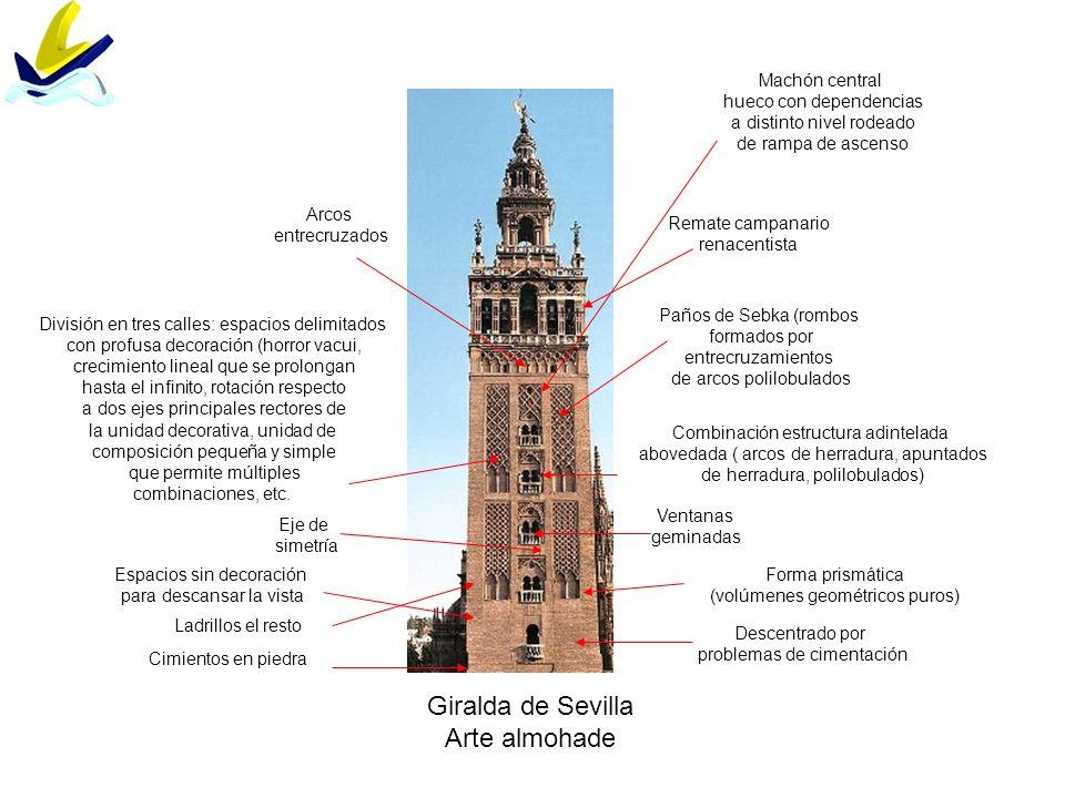Giralda de Sevilla Arte almohade Machón central hueco con dependencias