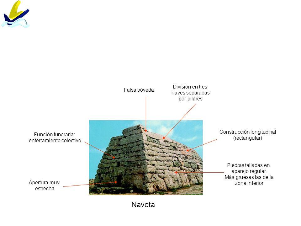 Naveta División en tres Falsa bóveda naves separadas por pilares