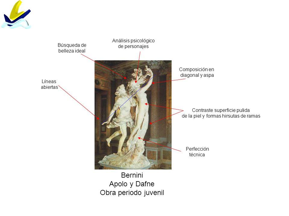 Bernini Apolo y Dafne Obra periodo juvenil Análisis psicológico
