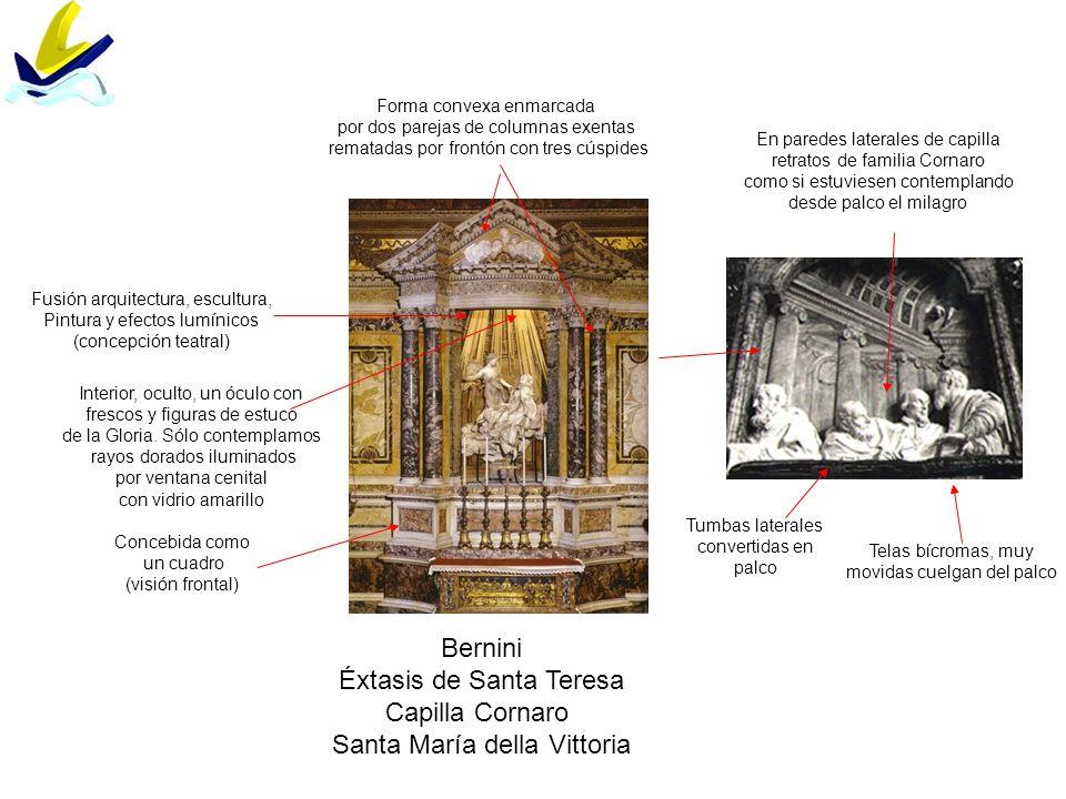 Éxtasis de Santa Teresa Capilla Cornaro Santa María della Vittoria