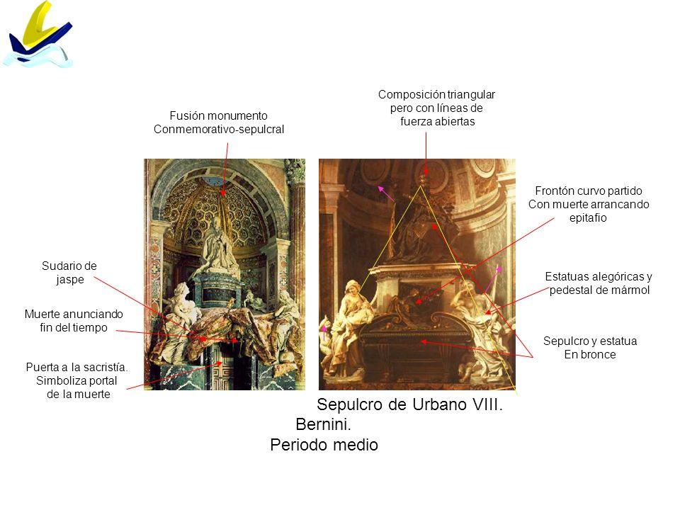 Sepulcro de Urbano VIII. Bernini. Periodo medio