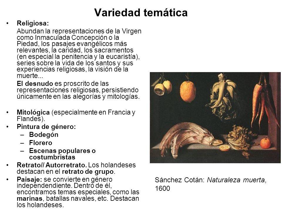 Variedad temática Sánchez Cotán: Naturaleza muerta, 1600 Religiosa: