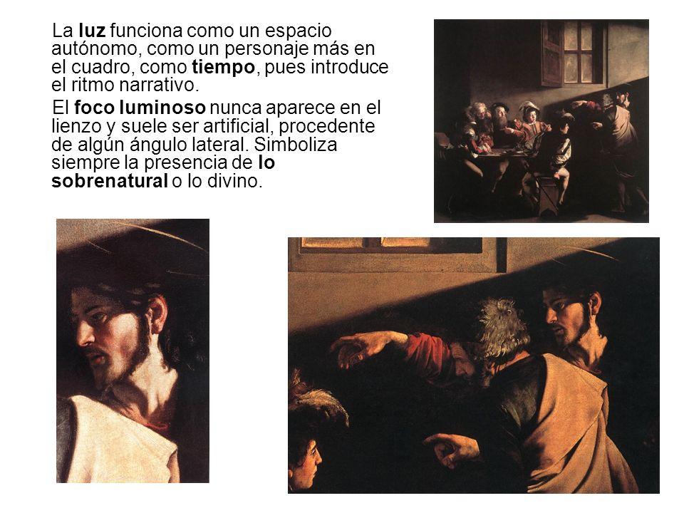 La luz funciona como un espacio autónomo, como un personaje más en el cuadro, como tiempo, pues introduce el ritmo narrativo.