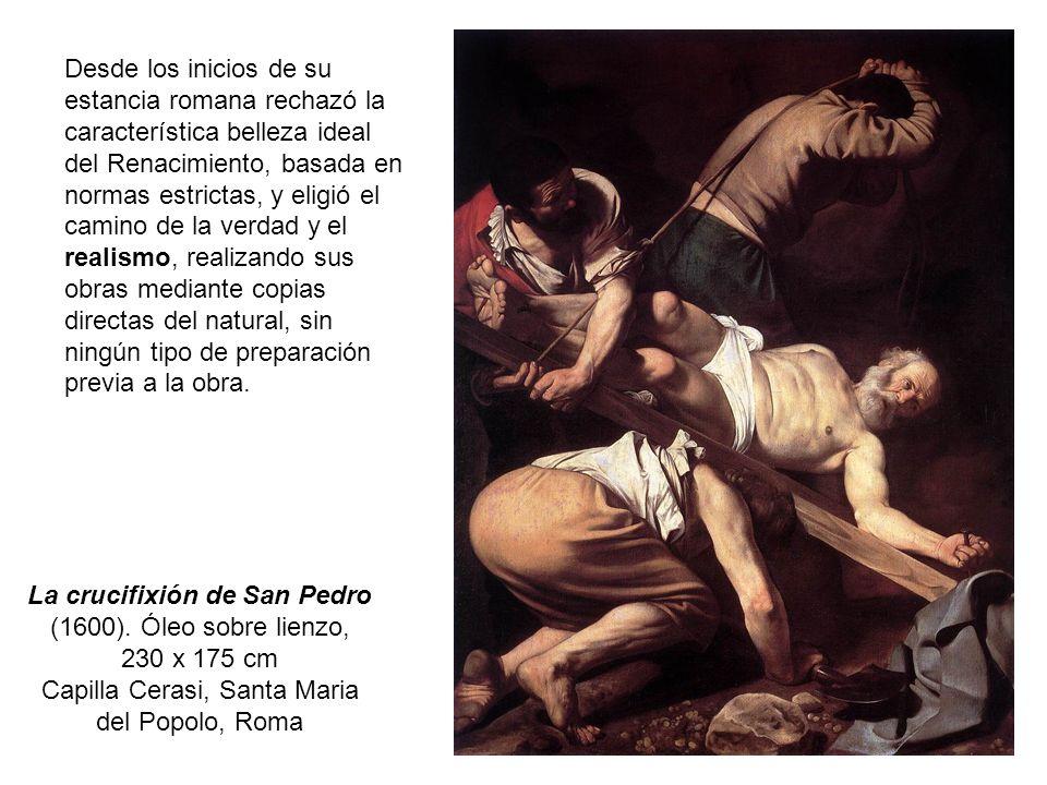 La crucifixión de San Pedro (1600). Óleo sobre lienzo,