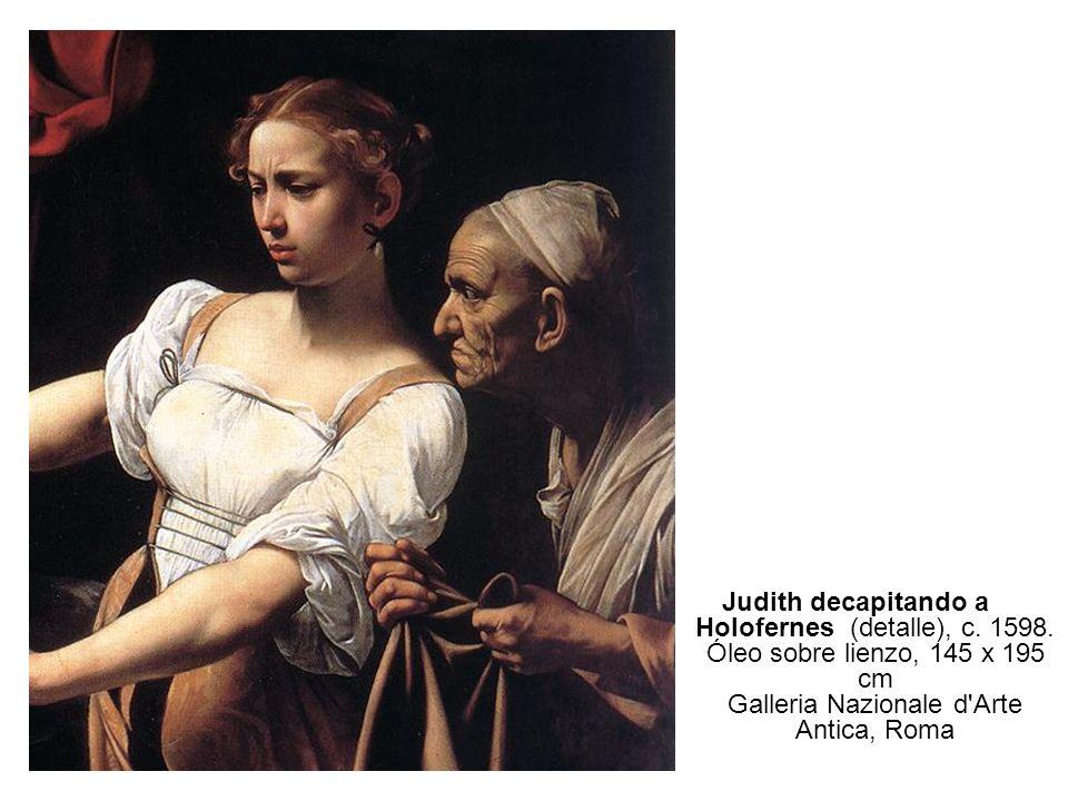 Judith decapitando a Holofernes (detalle), c. 1598