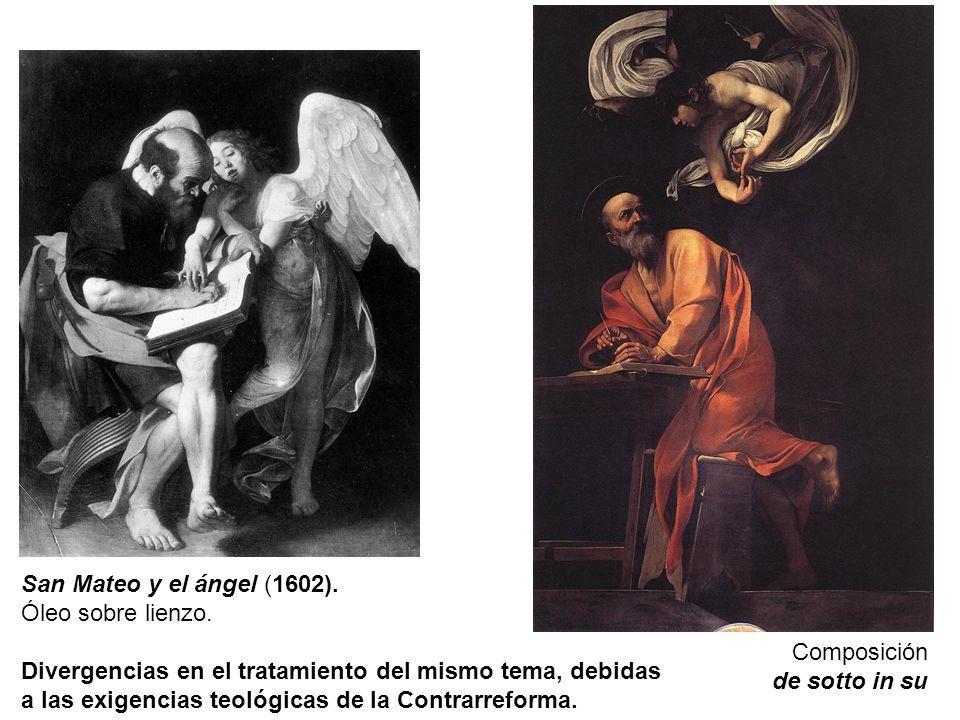 San Mateo y el ángel (1602). Óleo sobre lienzo.