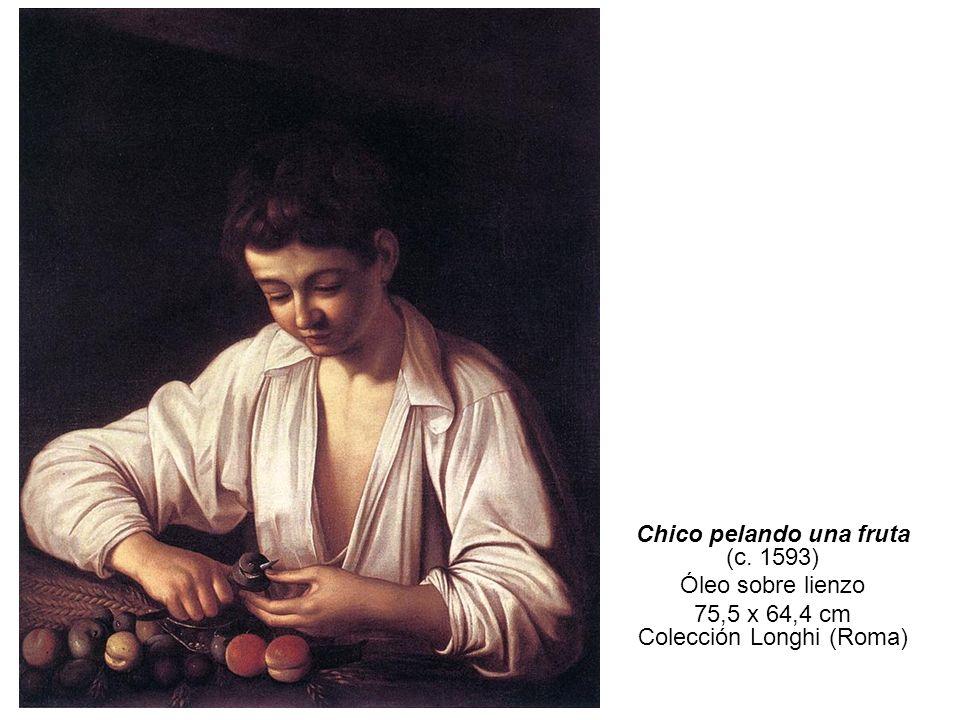 Chico pelando una fruta (c. 1593) Óleo sobre lienzo