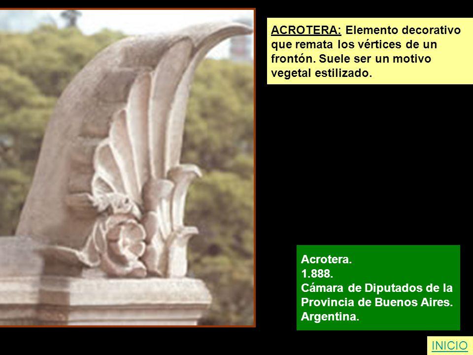 ACROTERA: Elemento decorativo