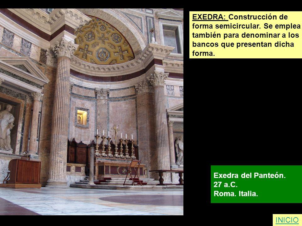 EXEDRA: Construcción de