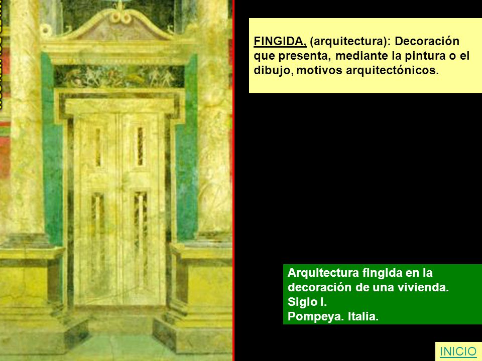 FINGIDA, (arquitectura): Decoración