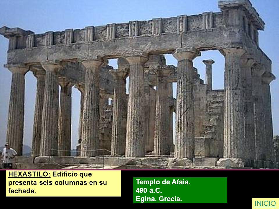 HEXÁSTILO: Edificio que