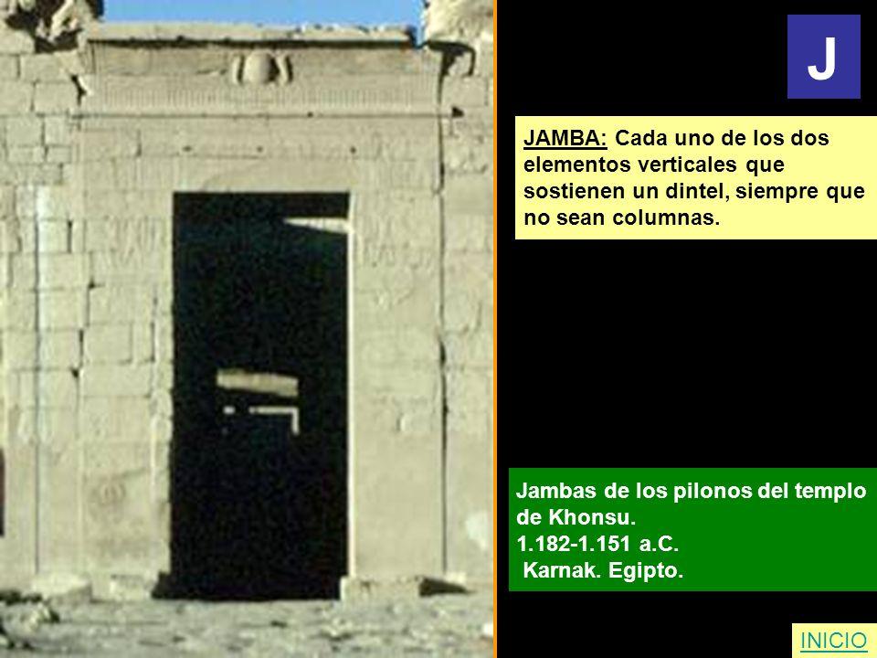 J JAMBA: Cada uno de los dos elementos verticales que