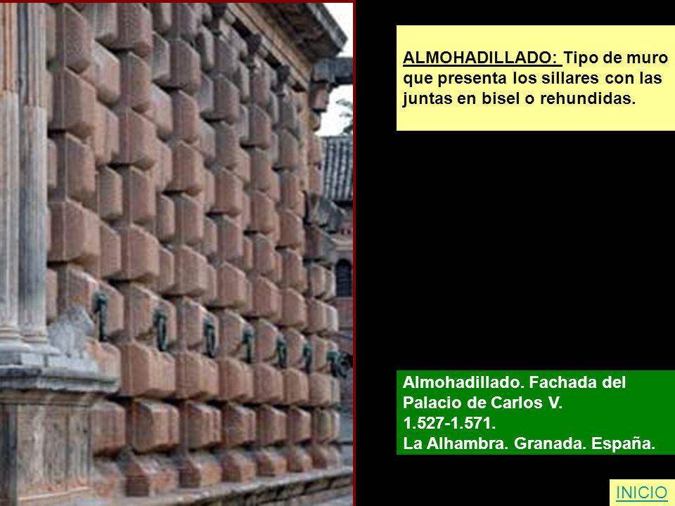 ALMOHADILLADO: Tipo de muro