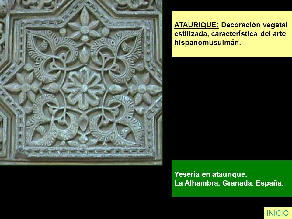 ATAURIQUE: Decoración vegetal