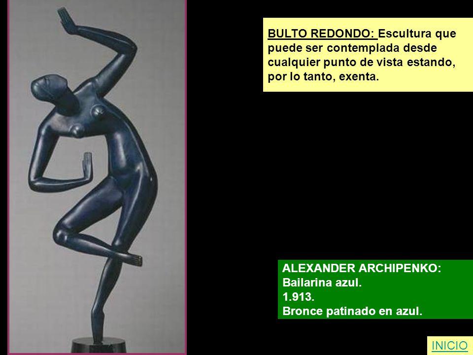 BULTO REDONDO: Escultura que