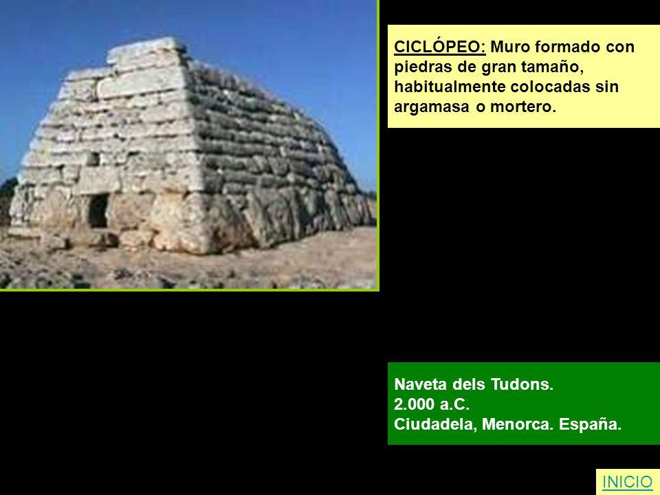 CICLÓPEO: Muro formado con