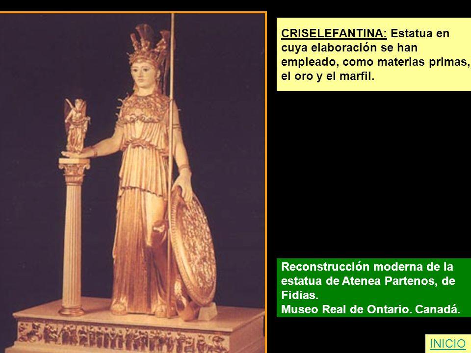 CRISELEFANTINA: Estatua en