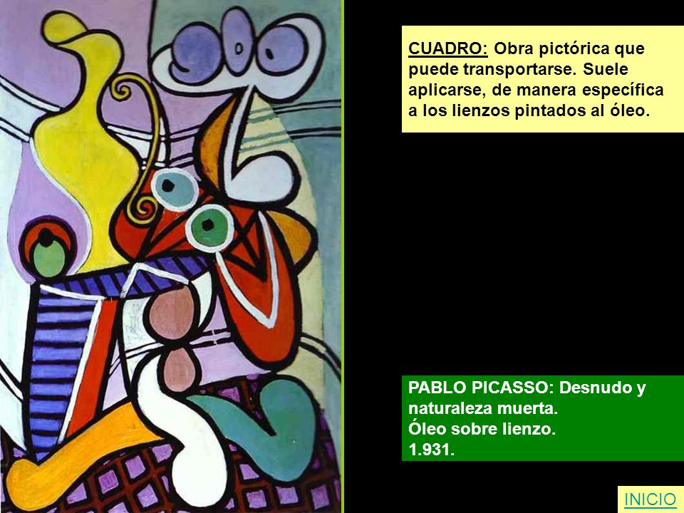 CUADRO: Obra pictórica que